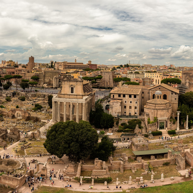 """Roma forum pano"" stock image"