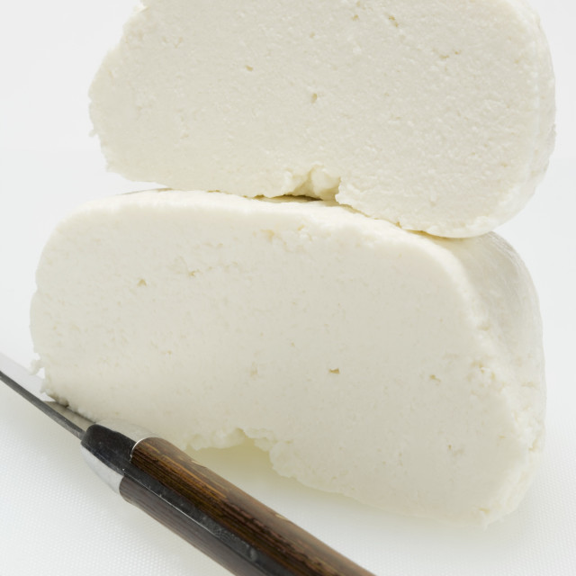 """Ricotta with knife"" stock image"
