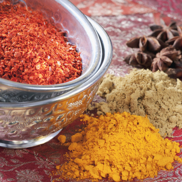 """Various spices"" stock image"