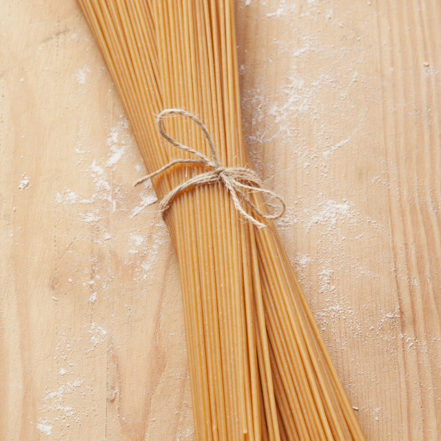"""A bunch of wholemeal spaghetti"" stock image"