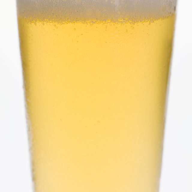 """Glass of lager (detail)"" stock image"