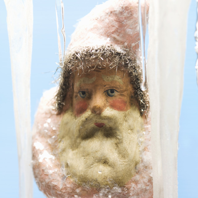 """Father Christmas and icicles"" stock image"