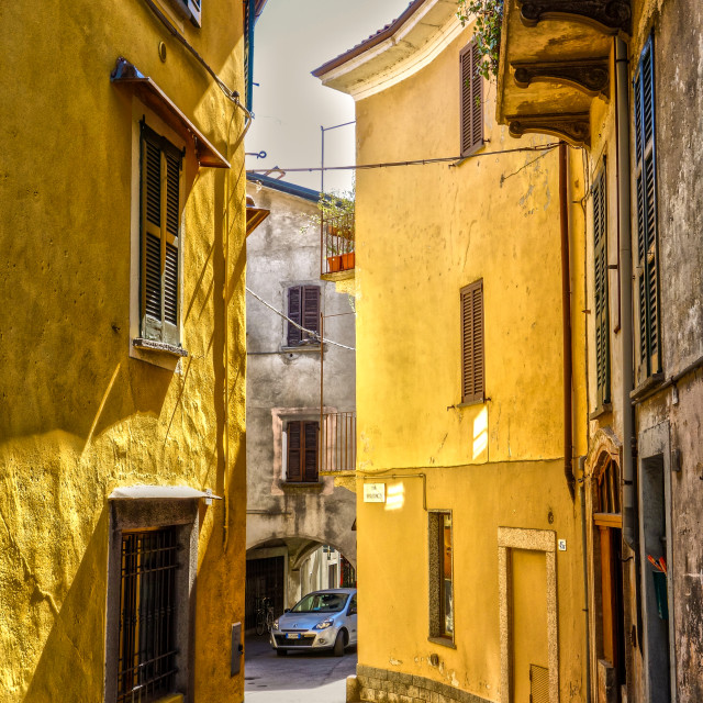 """Pallanza back streets"" stock image"