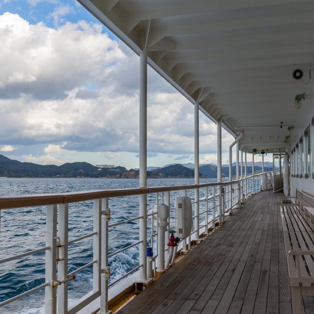 """Tourist ship to travel"" stock image"