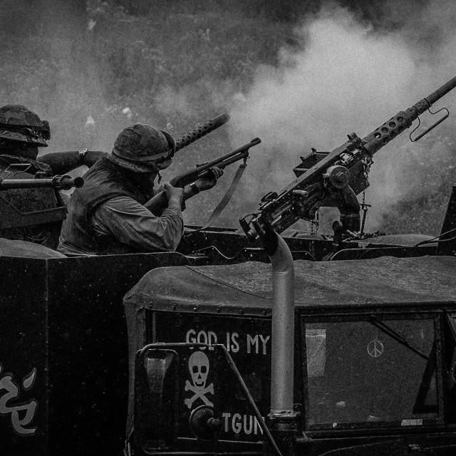 """US Marines in Action-Vietnam"" stock image"