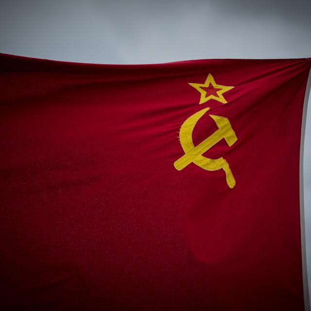 """""""Soviet Flag"""" stock image"""