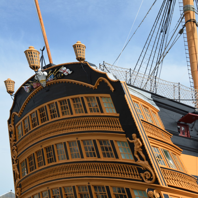 """Stern of HMS Victory."" stock image"