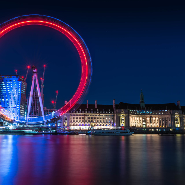 """London Eye Blur"" stock image"