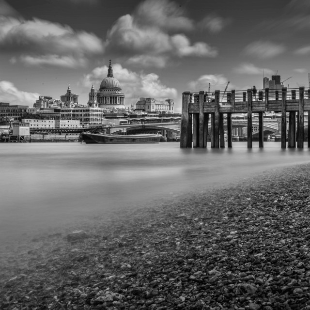 """Black and White St Pauls"" stock image"