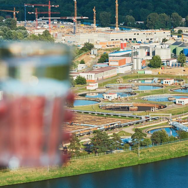 """""""Sewage treatment plant"""" stock image"""