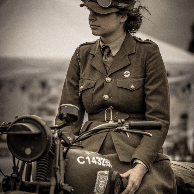 """""""Women at war"""" stock image"""
