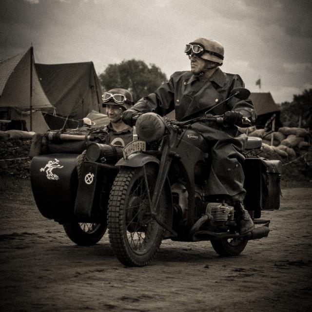"""German motorcycle unit"" stock image"