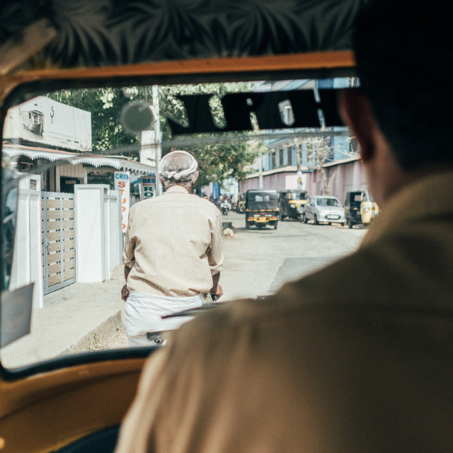 """India Tuk Tuk Driver"" stock image"