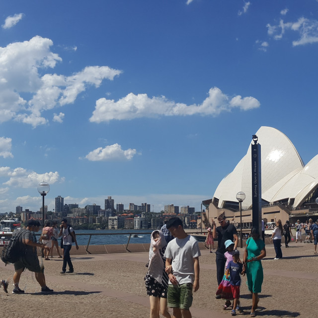 """Framed on a Beautiful Day - Sydney Opera House"" stock image"