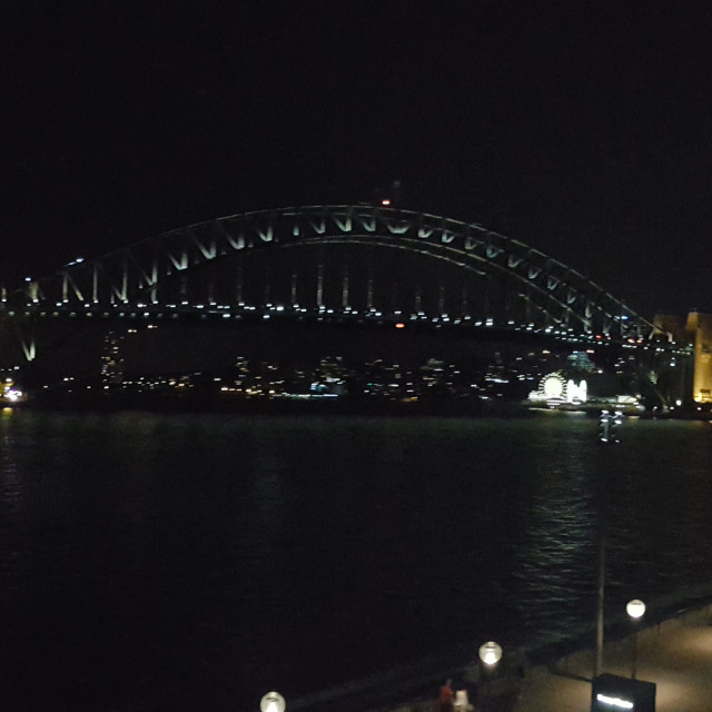 """Sydney Harbour Bridge - NIght View"" stock image"