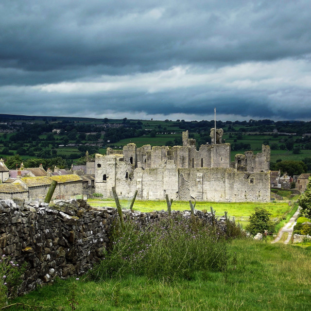 """Middleham Castle"" stock image"