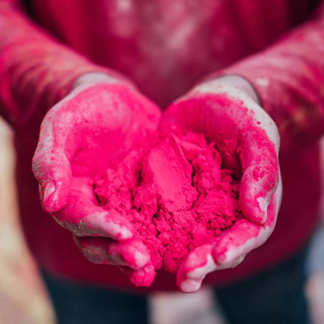 """Holi Love Hands"" stock image"