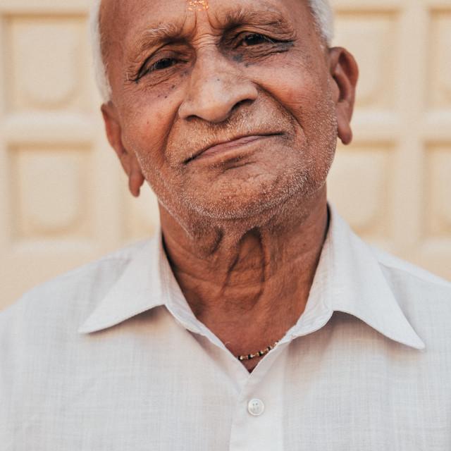 """Elderly Indian Man"" stock image"