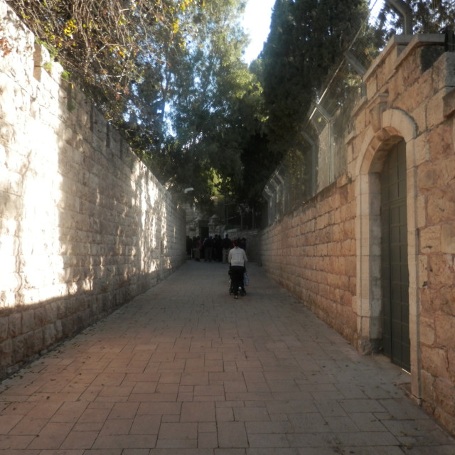 """Street View of Jerusalem"" stock image"