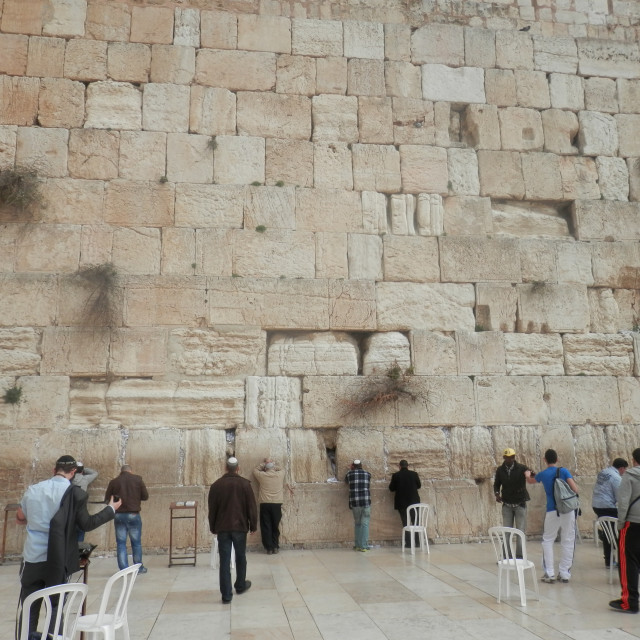 """Western Wall"" stock image"