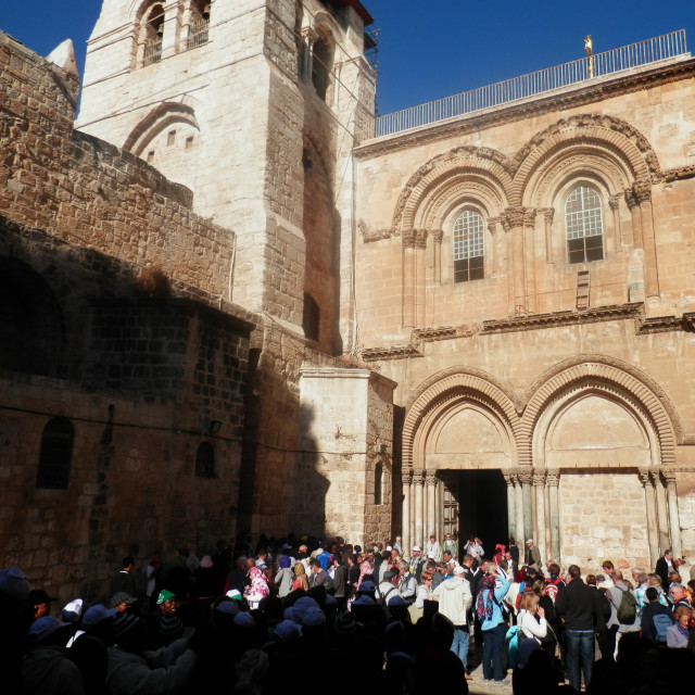 """Church of the Holy Sepulchre- From the outside"" stock image"