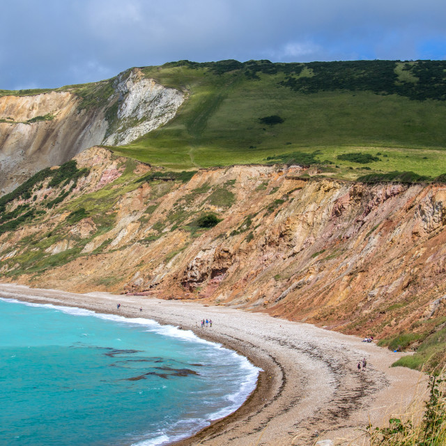 """Bay and Cliffs Jurassic Coast"" stock image"