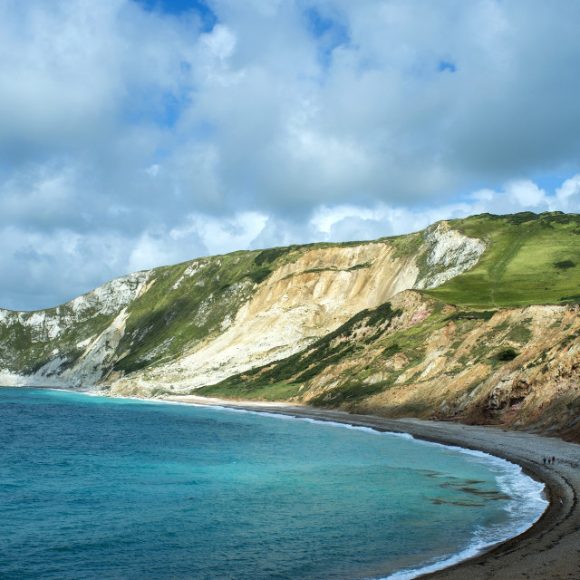 """Worbarrow Bay Cliffs"" stock image"