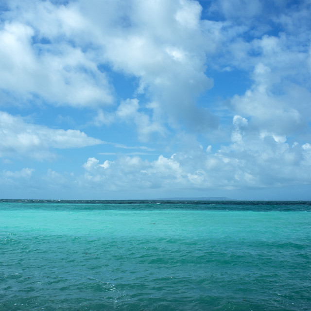 """Emerald Sea and Sky"" stock image"