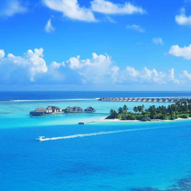 """Niyama Private Island in Maldives,"" stock image"