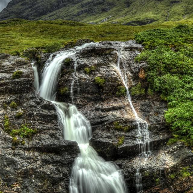 """A Waterfall in Scotland"" stock image"