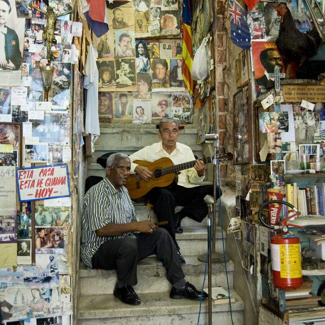 """Cuban music is everywhere...."" stock image"