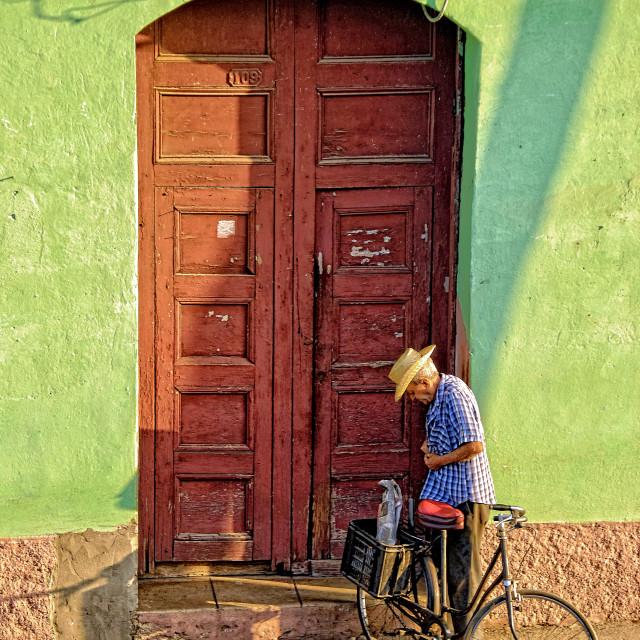 """Coming Home; Trinidad, Cuba"" stock image"