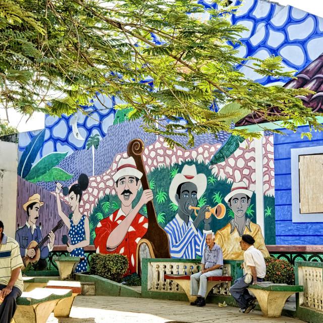 """Baracoa park life; Cuba"" stock image"