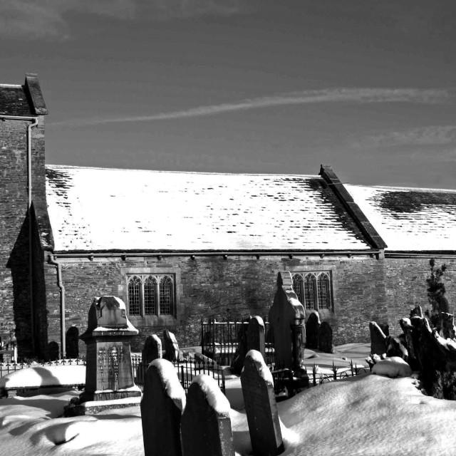 """""""St Illtyds Church, Blaeanau Gwent"""" stock image"""