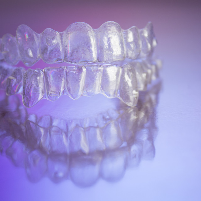 """Plastic dental orthodontics"" stock image"
