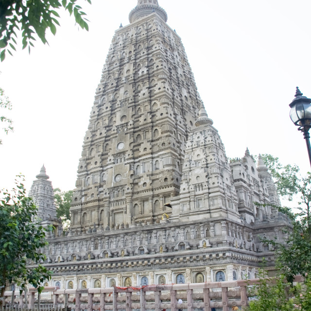 """View of Mahabodhi Temple"" stock image"