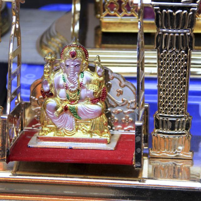 """""""Ganesha Idol on Swing"""" stock image"""