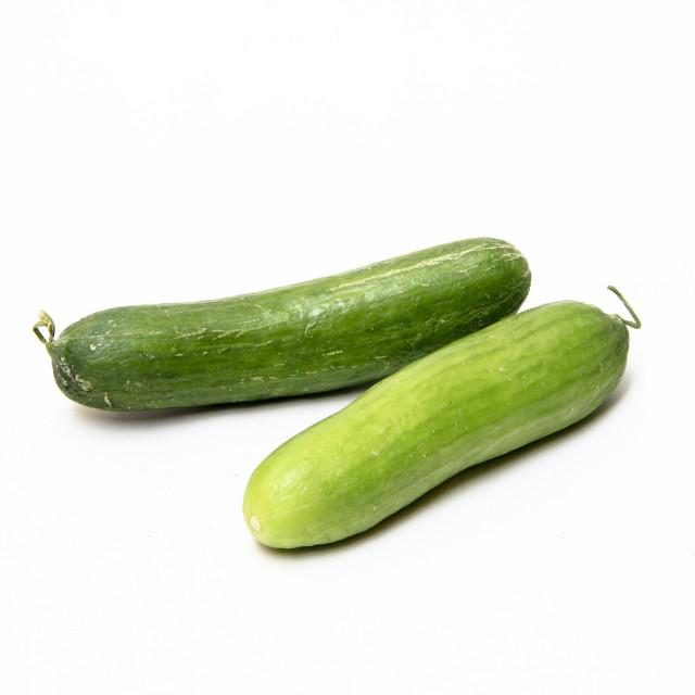 """Green Fleshy Cucumbers"" stock image"