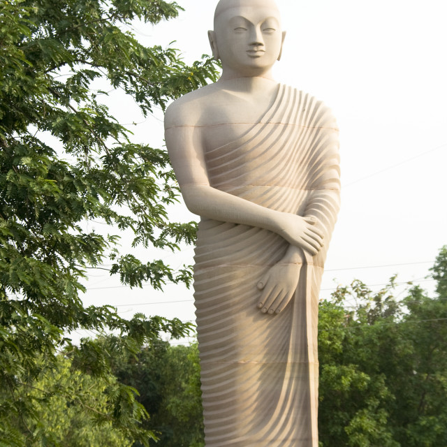 """Statue of Disciple of Buddha"" stock image"