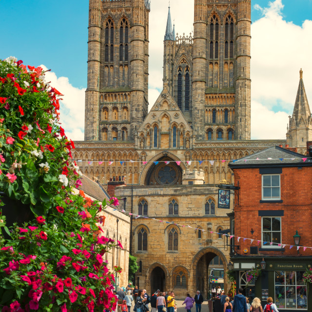"""Lincoln Cathedral in summer"" stock image"