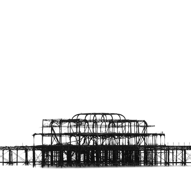 """West Pier silhouette"" stock image"