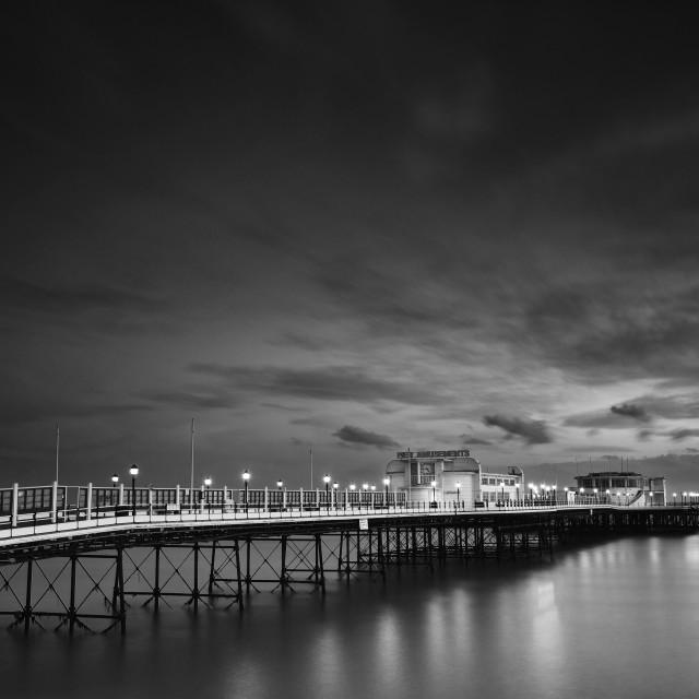 """""""Worthing Pier Twilight"""" stock image"""