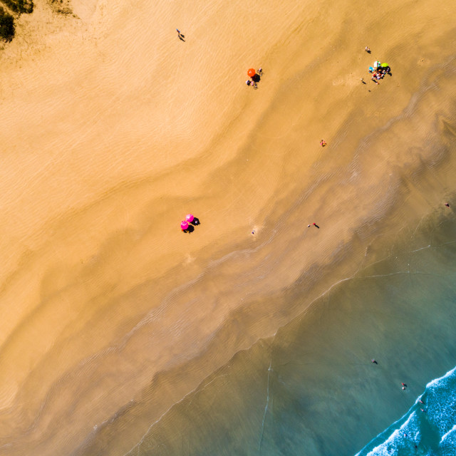 """Paradise Beach by a Drone"" stock image"