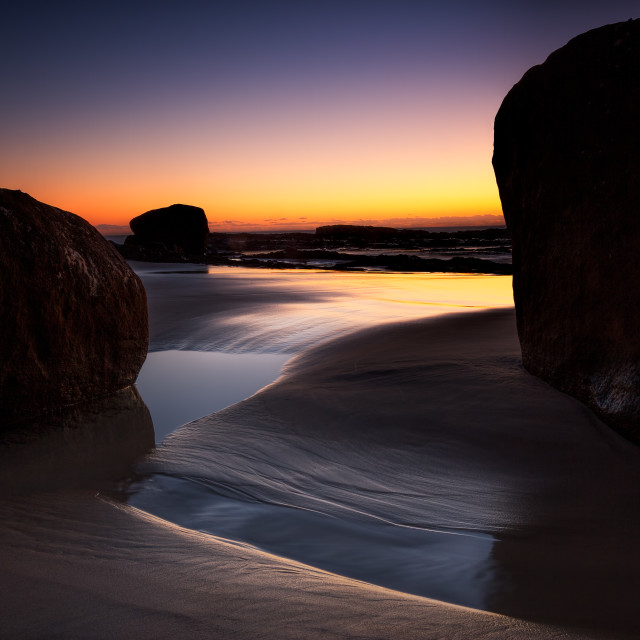 """Rocks at Sunrise"" stock image"