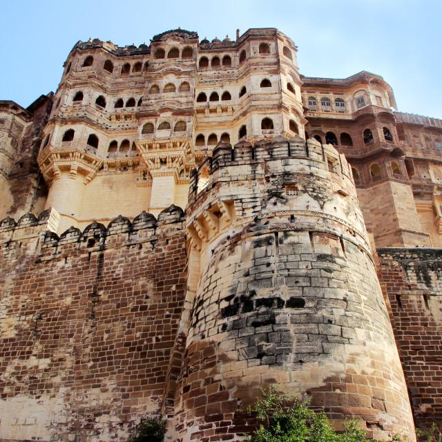 """Mighty Meharongarh Fort"" stock image"
