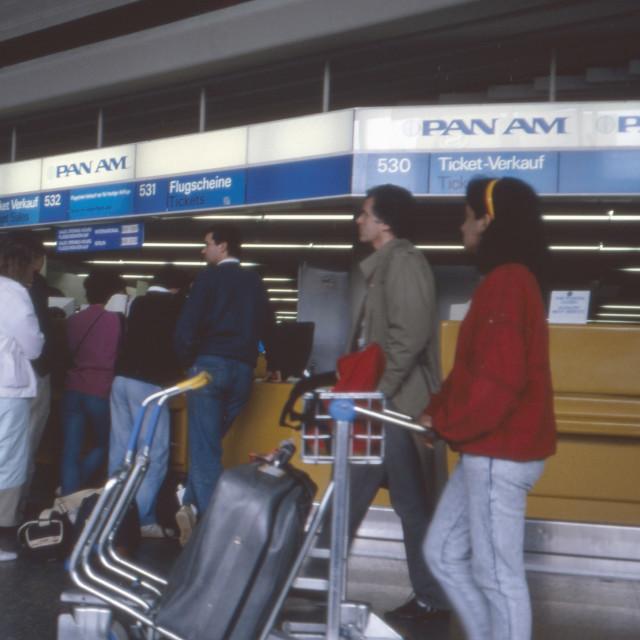 """Flughafenbetrieb"" stock image"