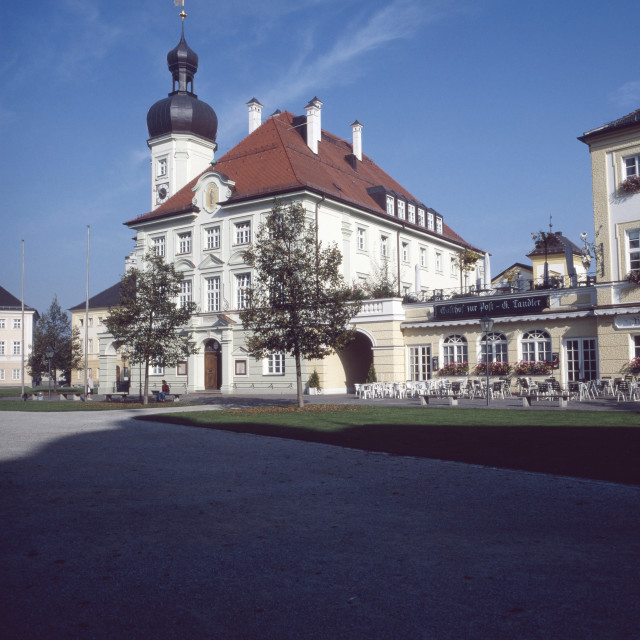 """Rathaus am Kapellplatz"" stock image"