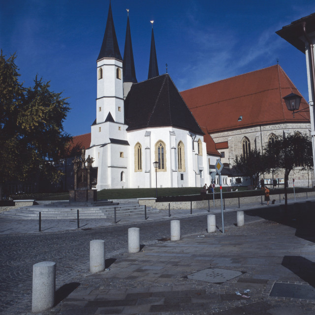 """Stiftskirche in Altötting"" stock image"