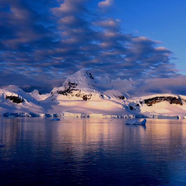 """Sunset in Antarctica"" stock image"