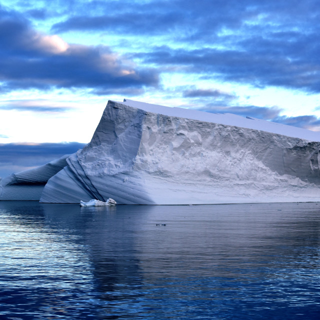 """Large iceberg floating in the waters off the Antarctic Peninsula"" stock image"